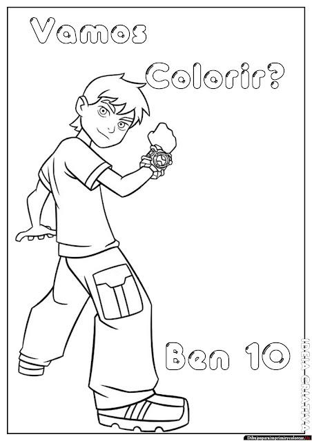 Dibujos de Ben 10 para Imprimir y Colorear