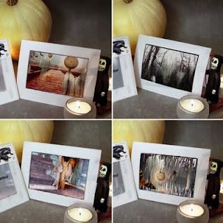 Halloween greeting cards by bindlegrim aka Robert Aaron Wiley as seen on etsy