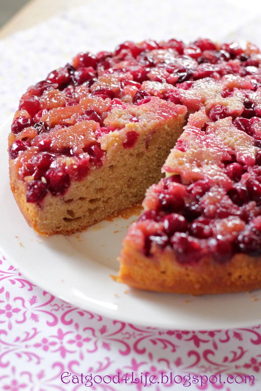 Honey Upside Down Cranberry Cake