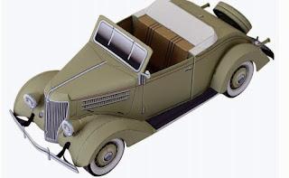 cara membuat miniatur mobil dari kertas karton