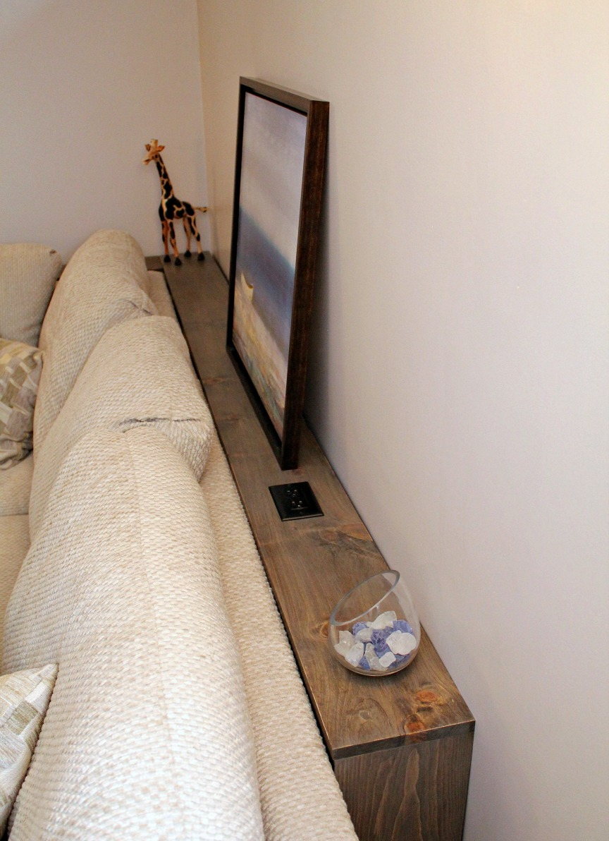 DIY Sofa Table   Cerusing
