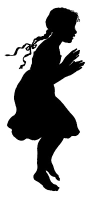 Vector Images Stock Girl Silhouette  