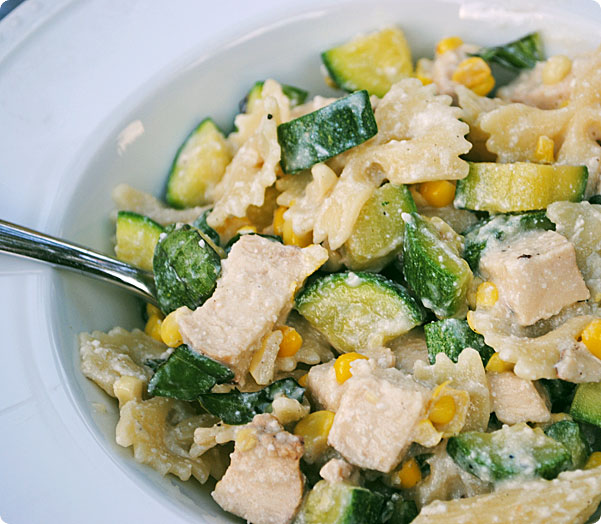 Squishy Zucchini : all things katie marie: Basil Ricotta Pasta with Corn and Zucchini