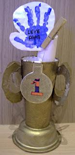 Afbeelding van zelf gemaakte trofee