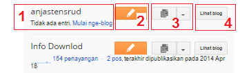 Mengenal Dahsboard Pada Blogger, cara buat blog baru
