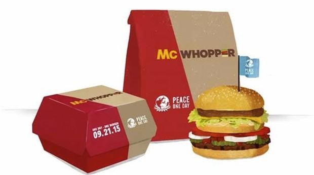 McDonald's e Burger King em prol da paz