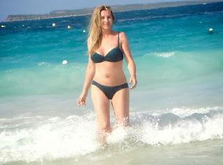 Gina Heisser Black Bikini Saint Martin Caribbean