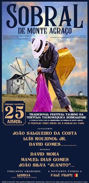 SOBRAL DE MONTE AGRAÇO (PORTUGAL) 25-04-2018. FESTIVAL TAURINO MIXTO.