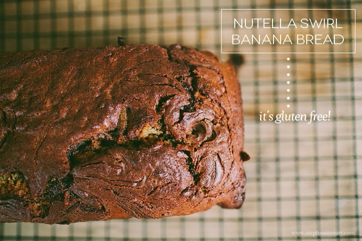 gluten free nutella banana bread recipe