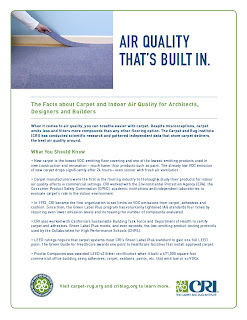 Indoor Air Quality for Architects, Designers and Builders: CRI Fact Sheet
