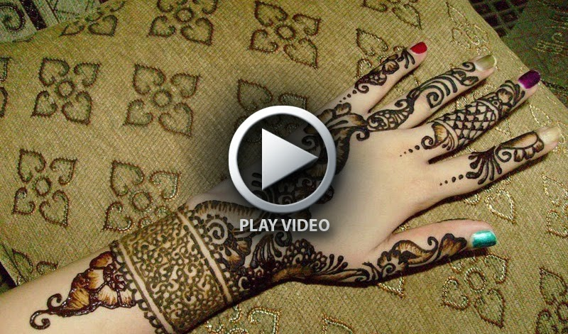 Learn Mehndi Patterns : How to apply henna mehndi on hands video tutorial bridal