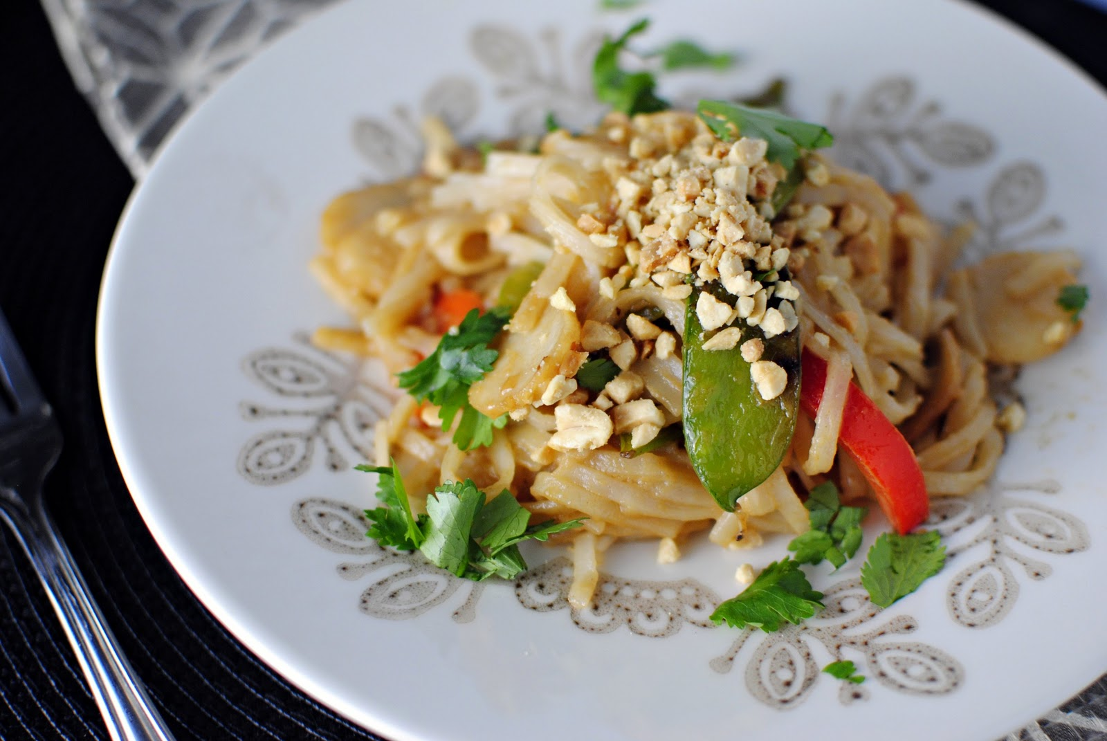 Vegetarian Pad Thai Vegetable pad thai