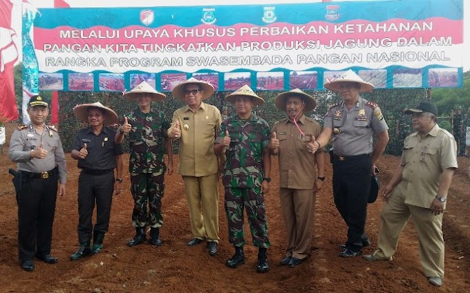 Korem 052/WKR Tanam Jagung Dukung Swasembada Pangan