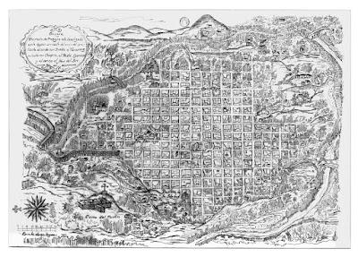 Trazo de la Ciudad  Antigua de Oaxaca