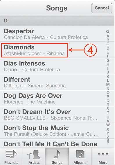 Cómo hacer para colocar una canción de tono en el iPhone 3