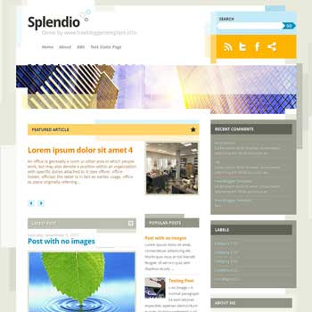 Splendio blogger template. clean and minimalist blogspot template. download free blogger template