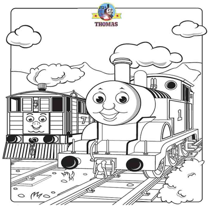 Thomas the train and friends coloring pages online free for Thomas the train color page