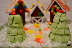 Wood Gingerbread Houses