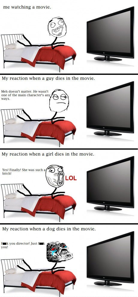 Stupid Reactions We Give While Watching A Movie!