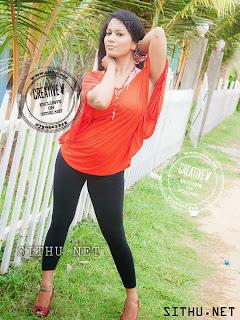 Nadeeshani Nilukshi hot black leggings