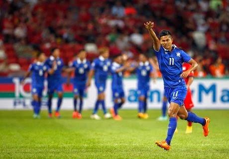 Thailand Menang Tipis Atas Singapura 2-1