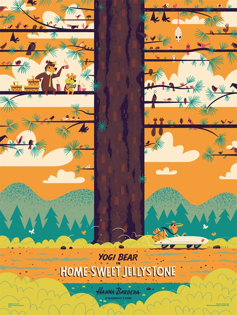 "Mondo x Hanna-Barbera Screen Print Series - ""Yogi Bear: Home-Sweet Jellystone"" by Andrew Kolb"