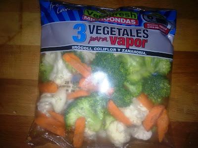 cena lenguado y verdura al vapor