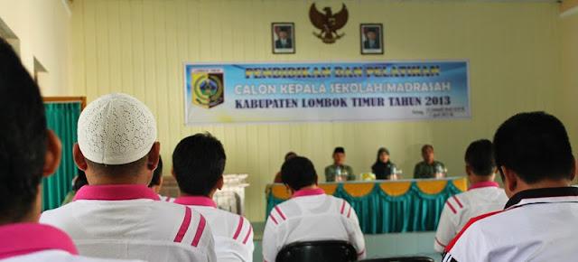 Diklat Calon Kepala Sekolah Lombok Timur 2013