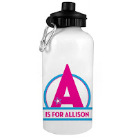 Psychobaby Magical Star Monogram Water Bottle Pink