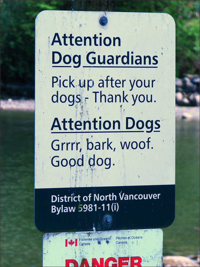 Notes from the Pack - a dog blog. Funny dog signs.