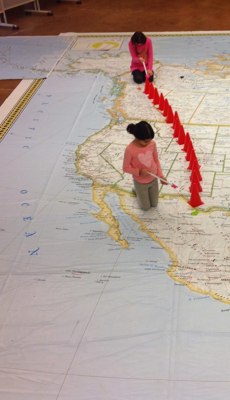 Mrs Yollis Classroom Blog National Geographics Giant Map of