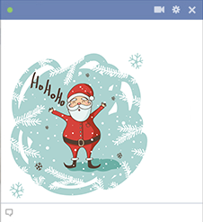 Ho Ho Ho Emoticon for Facebook