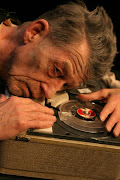 John Hurt in the Gate Theater's production of Krapp's Last Tape (photo by .