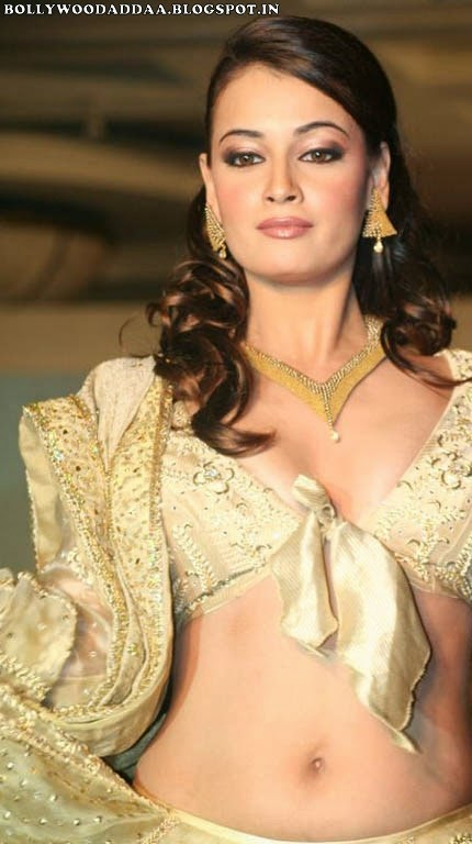 Diya Mirza hot belly visible pic