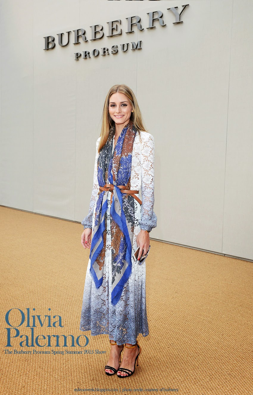 Olivia Palermo Bohemian Nature Look With Ombre Effect Resort 2015 Lace Dress