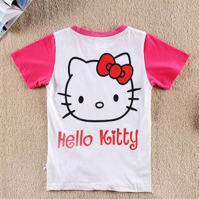 Baju Hello Kitty Lengan Pendek Anak Balita