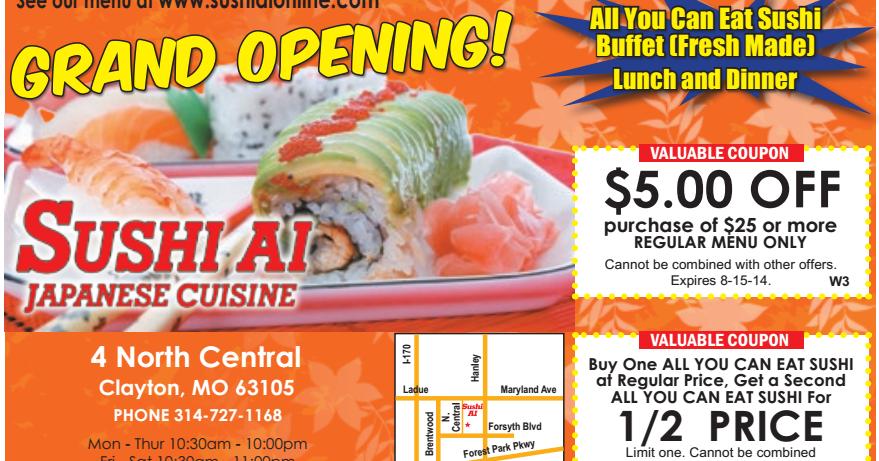 Coupons promo nikki sushi