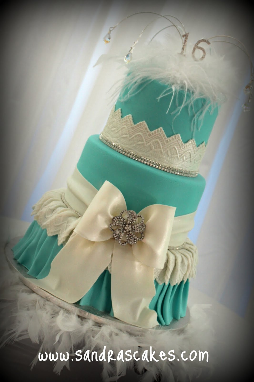 Quinceanera Tiffany Themed Cake Ideas and Designs