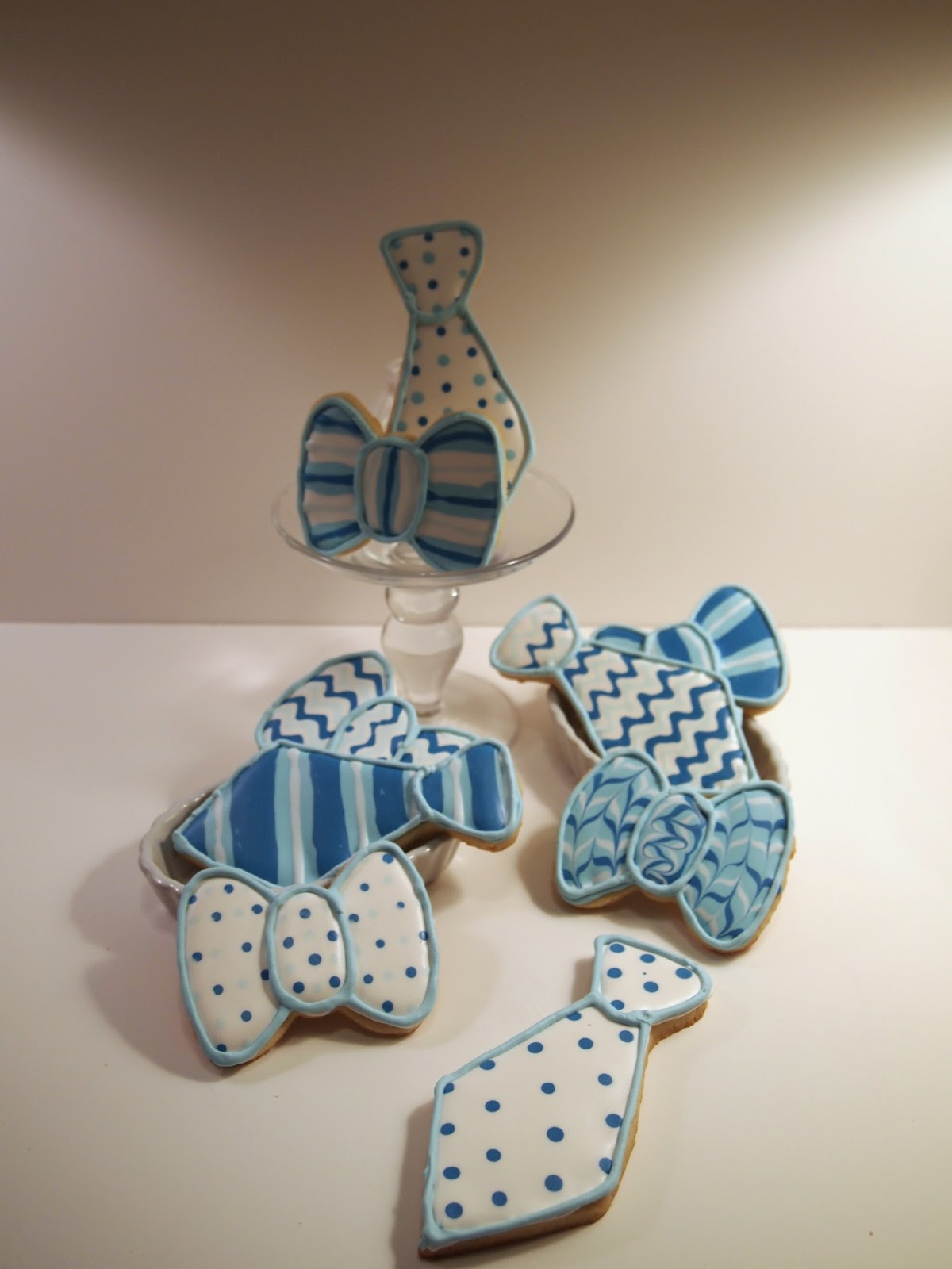 something sweet tie and bow tie baby shower cookies