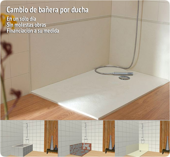 Cambio de ba era por ducha en un s lo d a m p - Cambio banera por ducha sin obras ...