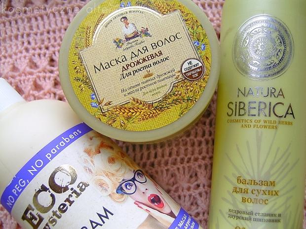 Rosyjskie kosmetyki do włosów: maska Babuszka Agafia, odżywka Natura Siberica, balsam Eco Hysteria