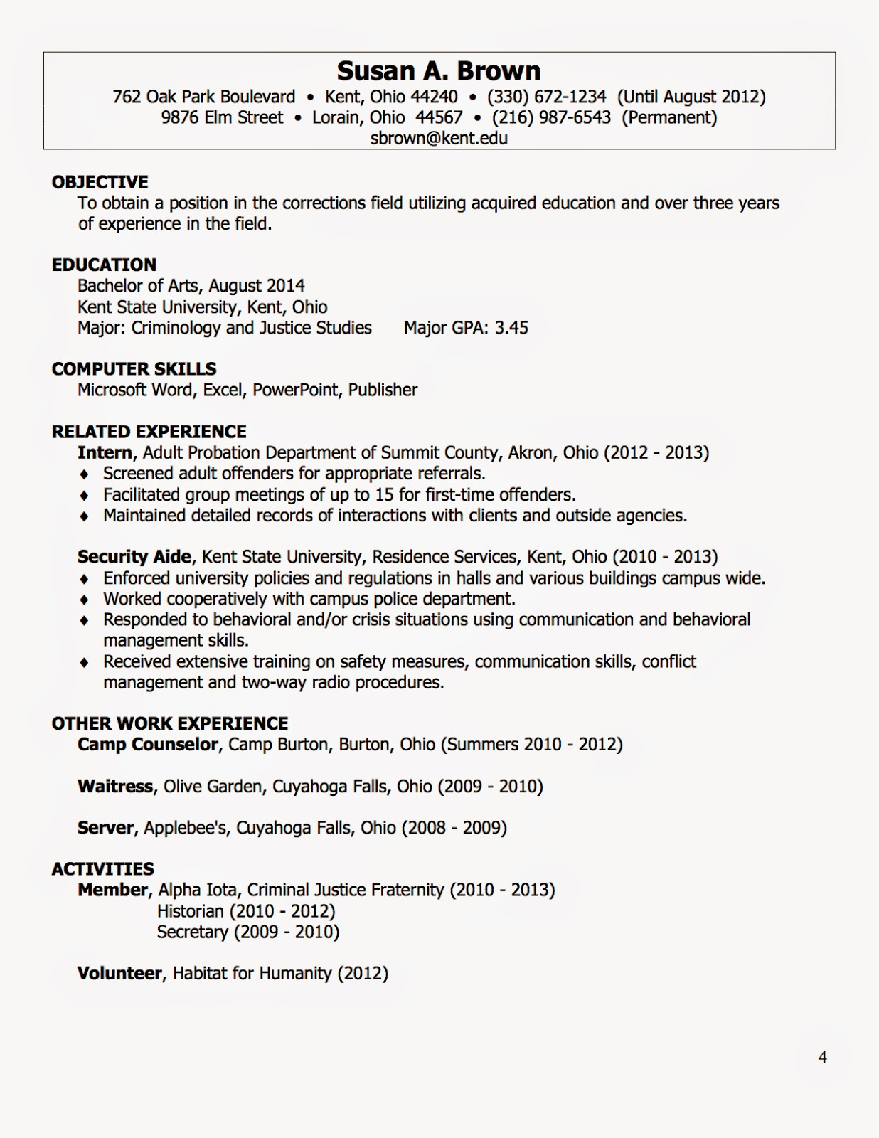 Harriciones! : Creating Your Resume!