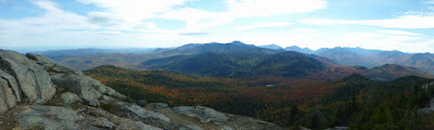 180-degree view from the top of Hurricane Mountain, Sunday 10/11/2015.  The Saratoga Skier and Hiker, first-hand accounts of adventures in the Adirondacks and beyond, and Gore Mountain ski blog.