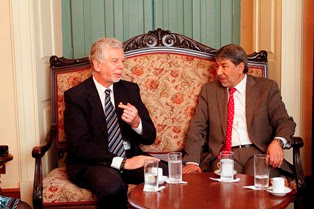Prefeito Fortunari recebe embaixador da Palestina Ibrahi, Alzeben
