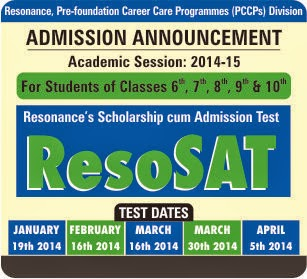 Admission Announcement ResoSAT-2014