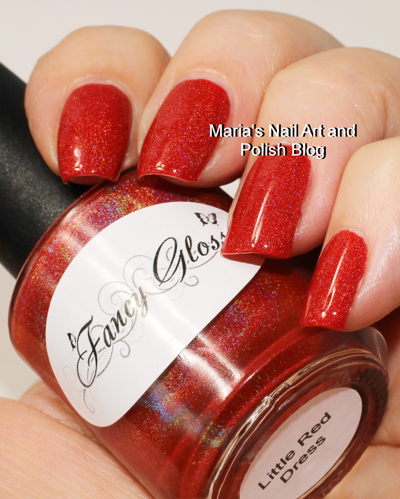 Marias Nail Art and Polish Blog: Fancy Gloss Little Red Dress swatches