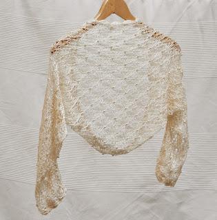 weselny sweterek z jedwabiu