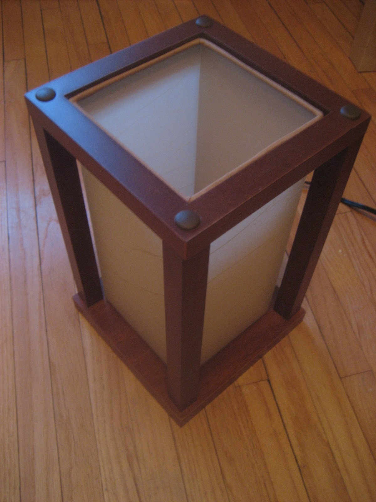 Chuck Does Art Mission Style Jewelry RackBox Lamp