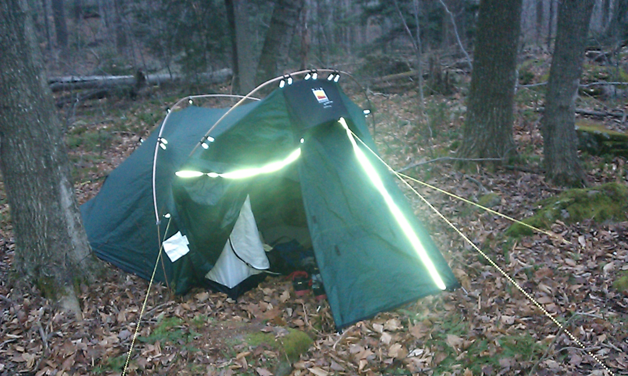 Reflective stripes and guylines & My Terra Nova Wild Country Duolite Tent |Camp Primitive - Out ...