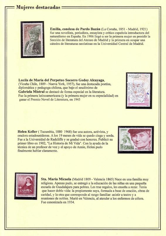 Colección filatélica La mujer y la filatelia